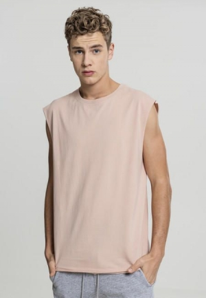 Urban Classics Open Edge Sleeveless Tee light rose - XXL