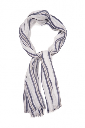 ŠÁL GANT D2. STRIPED COTTON LINEN SCARF
