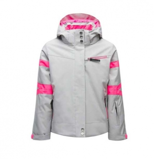 Spyder GIRLS PODIUM-Jacket-silver-10