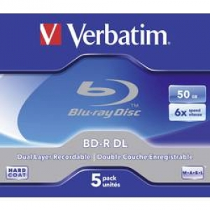 Blu-ray BD-R DL 50 GB Verbatim Jewelcase, 43748, 5 ks